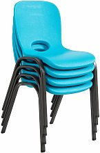 Lifetime Childrens Stacking Chair - 4 Pk