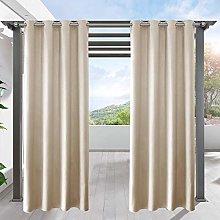 LIFONDER Blackout Pergola Shade Blind Curtains -