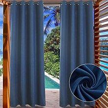 LIFONDER Patio Outdoor Curtains - Silver Grommet
