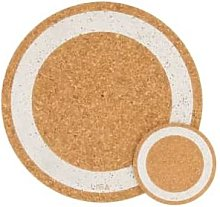 LIGA - Cork Mats Earth Silver - Set of 4 Coasters
