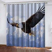 LIGAHUI Blackout Curtains Animal eagle 2x W46x L72