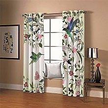LIGAHUI Blackout Curtains Birds and flowers 2x