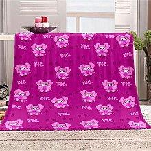 LIGAHUI Blanket Flannel Purple animal Throw
