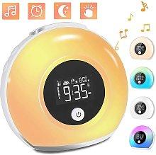 Light alarm clock, alarm clock with light and