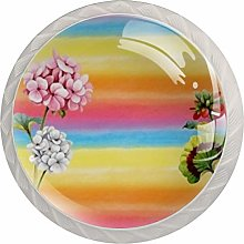 Light and Shadow Flowers Kitchen Cabinet Knobs