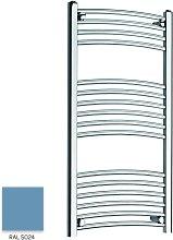 Light Blue 1000mm x 300mm Curved 22mm Towel Rail -