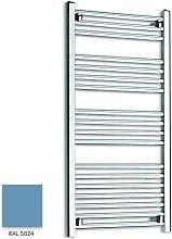 Light Blue 1000mm x 500mm Straight 22mm Towel Rail