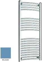 Light Blue 1200mm x 500mm Curved 22mm Towel Rail -