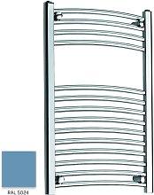 Light Blue 800mm x 500mm Curved 22mm Towel Rail -
