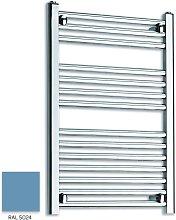 Light Blue 800mm x 500mm Straight 22mm Towel Rail