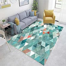 Light blue Dining Room Rugs Abstract ink pattern