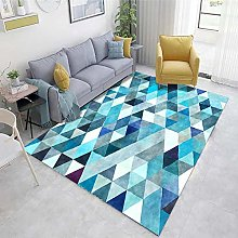 Light blue Large Rugs Abstract ink pattern living