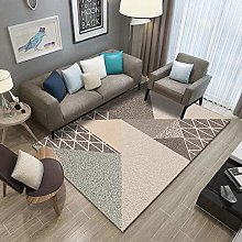 Light brown triangle Multicoloured Cotton Rug for
