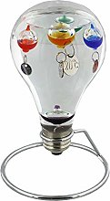 Light Bulb Shaped Galileo Thermometer on Metal
