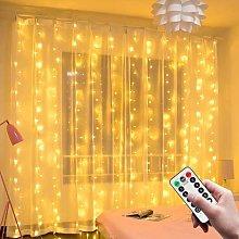 Light Curtain, 3M * 3M USB 300 LED String Lights,