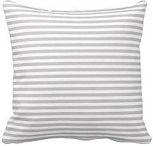Light Gray and White Stripes Pattern Design Throw