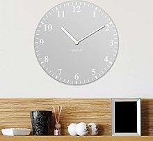 Light Grey MDF Wall Clock 30cm Analog Face