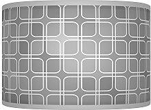 Light Grey Silver Retro Handmade Geometric Giclee