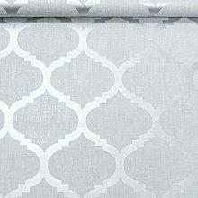 Light Grey Wallpaper Trellis Geometric Metallic