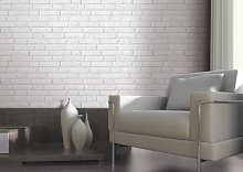 Light Grey / White - J30309 - Brick Effect -