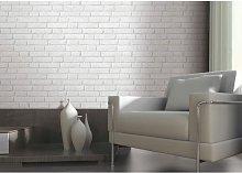 Light Grey / White - J30309 - Brick Effect