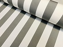 Light Grey & White Striped DRALON Outdoor Fabric