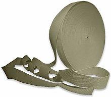 Light Khaki 38mm Cotton Webbing Tape Strapping 1.5