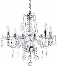 Light Lamp Marie Therese 6 Arms Crystal