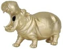Light & Living - Gold Hippo Bulb in Mouth Table