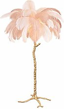 Light Luxury Branch Feather Floor Lamp Pure Copper