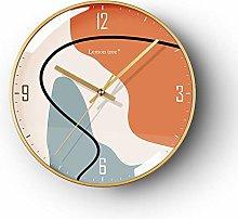 Light luxury Nordic wall clock simple modern