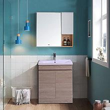 Light Oak Bathroom Vanity Sink Unit Basin Storage