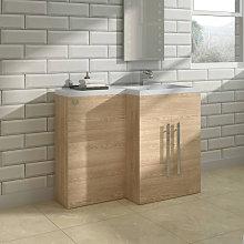 Light Oak Right Hand Bathroom Cabinet Furniture