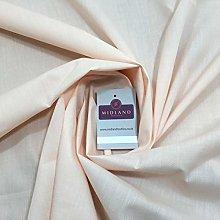 Light Peach Plain Polyester Cotton Fabric - Dress