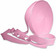 Light Pink 25mm Cotton Webbing Tape Strapping 1