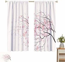 Light Pink Blackout curtains - gasket insulation