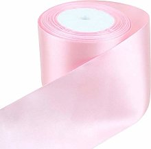 Light Pink Satin Ribbon - 50mm Wide - 5 Meter -
