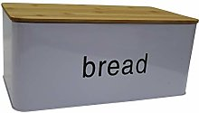 Light Purple Bread Bin Bread Crock with Bamboo Lid