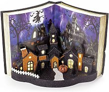 Light Up Halloween Book Decoration