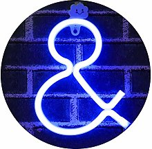 Light Up Letters Neon Signs, Ampersand blue