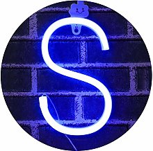 Light Up Letters Neon Signs, blue Marquee Letter