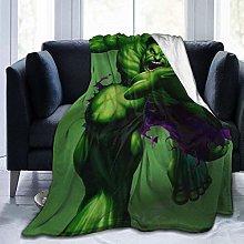 Light Weight Plush Blanket,Hulk Travel Throw