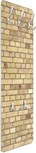 Light Yellow Brick Wallpaper Wall Mounted Coat