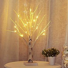 Lighted Birch Tree, 24 LED Twig Tree with Lights