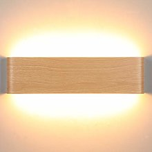Lightess Bright 16W Led Wall Light Wood Pattern Up