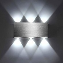 Lightess Modern 18W LED Wall Light Brushed