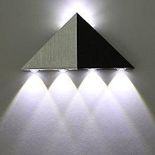 Lightess Modern Wall Lights 5W Aluminium Triangle