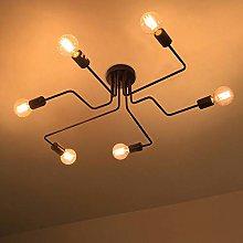 LIGHTESS Vintage Industrial Spider Lights Ceiling
