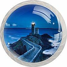 Lighthouse Lighting Sea Blue White Drawer Handles