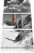 Lighthouse with Seagulls by the Beach Path 3 Piece